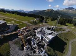 Suivi de chantier au sommet du Pléney à 360°